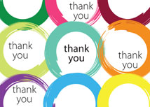 Stroke of Color Thank You Card
